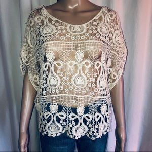 Iris crochet lace top